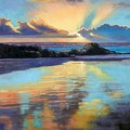 Sunset at Havika Beach Print by Janet King