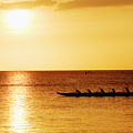 Sunset Canoe Poster by Vince Cavataio - Printscapes