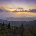 Sunset on the Blue Ridge Parkway Print by Rob Travis