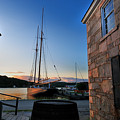 Sunset Reflections - Mystic Seaport Print by Thomas Schoeller