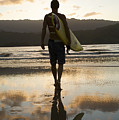 Sunset Surfer Poster by Kicka Witte - Printscapes