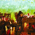 Sunset Terrace Intimacy Print by Marilyn Sholin