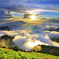 Sunset With Clouds Print by Photo by Vincent Ting