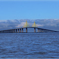Sunshine Skyway Print by Amanda Vouglas