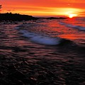 Superior Sunrise 2 Print by Larry Ricker