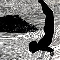 Surfer and Waikiki Poster by Hawaiian Legacy Archive - Printscapes