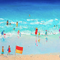 Swim Day Print by Jan Matson