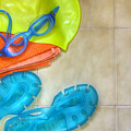 Swimming gear Poster by Carlos Caetano