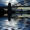 Sydney Harbour Bridge reflection Poster by Sheila Smart