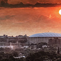 Syracuse Sunrise over the Dome Poster by Everet Regal