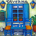 Table for Two in Greece Print by Lisa  Lorenz
