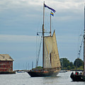 Tall Ships Sailing II Print by Suzanne Gaff