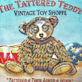 Tattered Teddy Toy Shop Sign Print Poster by Randy Steele