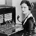 Telephone Operator Poster by General Photographic Agency