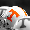 Tennessee Football Helmets Poster by University of Tennessee Athletics