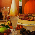 Thanksgiving Table Print by Amanda And Christopher Elwell