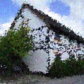 Thatched Country House Impressionist Painting Print by Dawn Hay