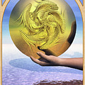 The Ace of Coins Print by John Edwards
