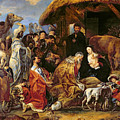 The Adoration of the Magi Print by Jacob Jordaens