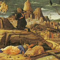 The Agony in the Garden Poster by Andrea Mantegna