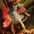 The Archangel Michael defeating Satan Print by Guido Reni