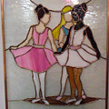The Ballet Dancers in Stained Glass Poster by Arlene  Wright-Correll