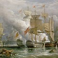 The Battle of Cape St Vincent Print by Richard Bridges Beechey