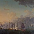 The Battle of Louisbourg on the 21st July 1781 Print by Auguste Rossel De Cercy