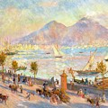 The Bay of Naples with Vesuvius in the Background Print by Pierre Auguste Renoir