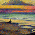 The Beach at Heist Print by Georges Lemmen