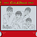 The Beatles Print by Ron Magnes