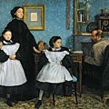 The Bellelli Family Print by Edgar Degas