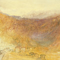 The Brunig Pass from Meiringen Print by Joseph Mallord William Turner
