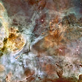 The Central Region Of The Carina Nebula Print by Stocktrek Images
