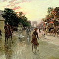 The Champs Elysees - Paris Print by Georges Stein