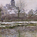 The Church at Vetheuil under Snow Print by Claude Monet