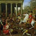 The Destruction of the Temples in Jerusalem by Titus Print by Nicolas Poussin