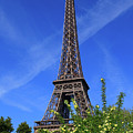 The Eiffel Tower in Spring Print by Louise Heusinkveld