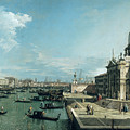 The Entrance to the Grand Canal and the church of Santa Maria della Salute Poster by Canaletto