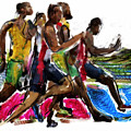 The Finish Line Print by Russell Pierce