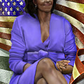 The First Lady-American Pride Print by Reggie Duffie