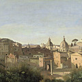 The Forum seen from the Farnese Gardens Print by Jean Baptiste Camille Corot