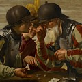 The Gamblers Print by Hendrick Ter Brugghen
