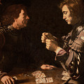 The Gamblers Poster by Michelangelo Caravaggio