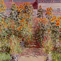 The Garden at Vetheuil Print by Claude Monet