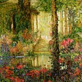 The Garden of Enchantment Poster by Thomas Edwin Mostyn