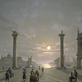 The Grand Canal From Piazza San Marco Print by Henry Pether