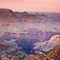 The Grand Canyon  South Rim at Dusk Poster by Ryan Kelly