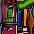 The Green Door Print by Mary Tere Perez