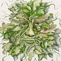 The Green Man Print by Angelina Whittaker Cook